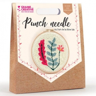 KIT PUNCH NEEDLE VEGETAL
