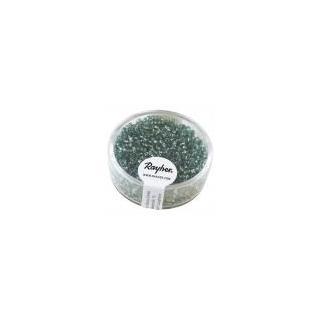 Rocailles, 2 mm ø, avec garniture argent turquoise
