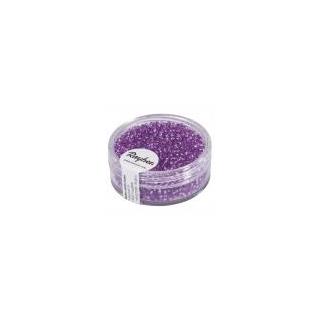 Rocailles, 2 mm ø, avec garniture argent   lilas