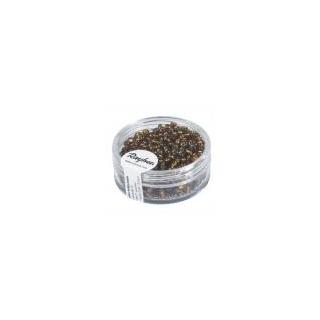 Rocailles,2,6 mm ø,av.garniture d'argen brun fonce