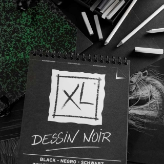 BLOC DESSIN XL NOIR 150G A4