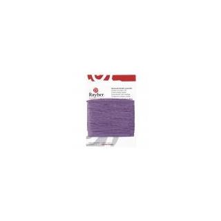Cordon en coton, ciré, 1mm, carte-LS 20 m, lilas