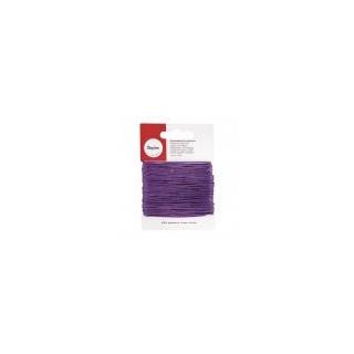 Cordon bijou, ø 1 mm, carte-LS 20 M, lilas foncé