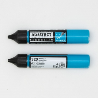 LINER ABSTRACT 320 BLAU AZUR