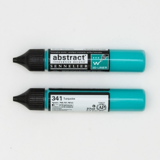 LINER ABSTRACT 341 TURQUOISE