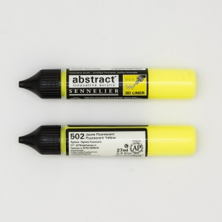 LINER ABSTRACT 502 JAUNE FLUO