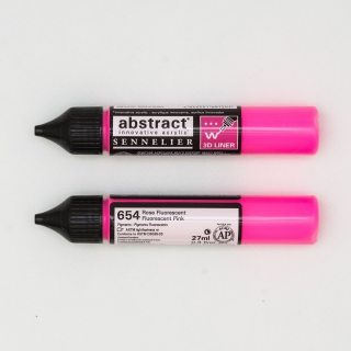 LINER ABSTRACT 654 ROSE FLUO
