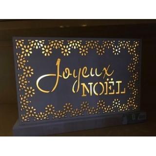 LAMPE BOIS JOYEUX NOEL