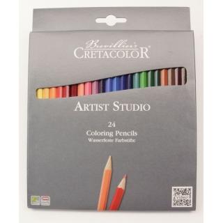 24 CRAYONS DE COULEURS ARTISTE STUDIO LINE